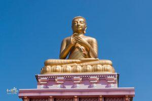 由台灣居士們捐資鑄造釋迦牟尼佛銅像,高11.58公尺 重約19公噸,強帝瑪法師指導建立,台灣中華華藏淨宗學會全體同修協助完成。